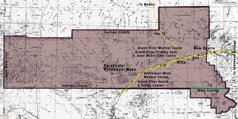 Grand River Hospital District map