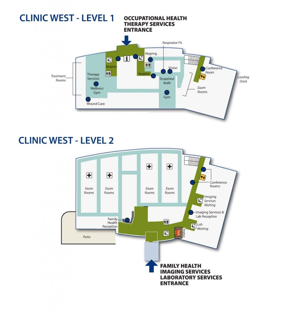 Campus map - Clinic West