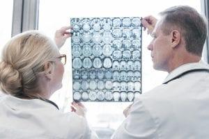 Doctors looking at MRI
