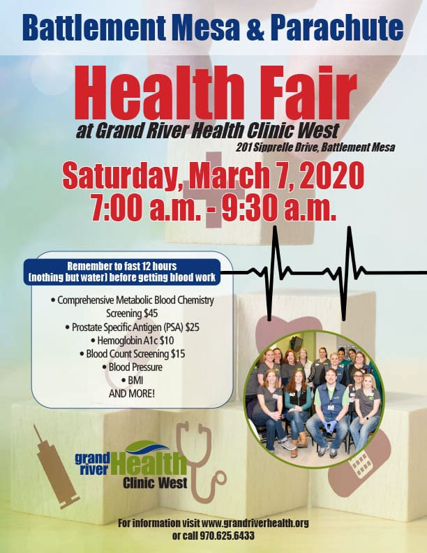 Battlement Mesa Parachute Health Fair 2020
