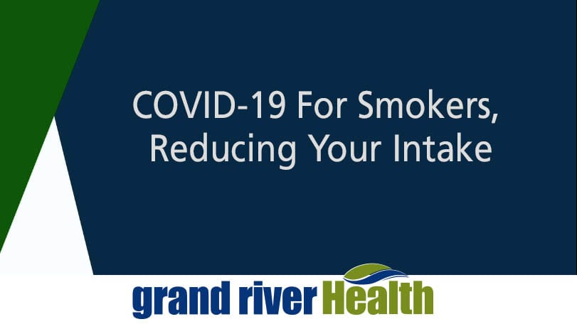 COVID-19 For Smokers, Reducing Your Intake