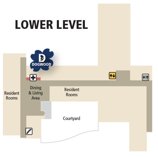 Care Center lower level map